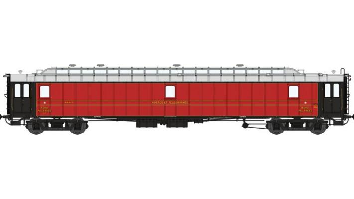 Voit. POSTALE OCEM 21,6 m Ep.II - NORD PAyi  rouge foncé, toit gris cl