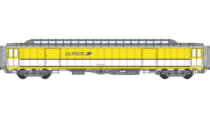 Voit. POSTALE OCEM Allège 21,6 m Ep.IV-V - PEZ  jaune et bande blanche