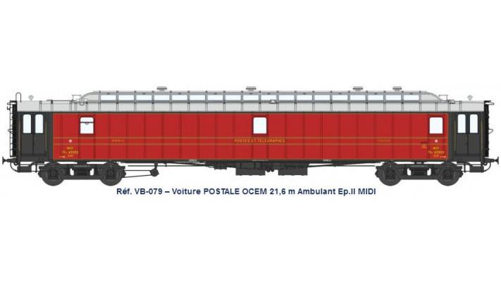 AMBULANT 21,6 m Ep.II - PAyi rouge foncé, toit gris clair, échelle, Bo
