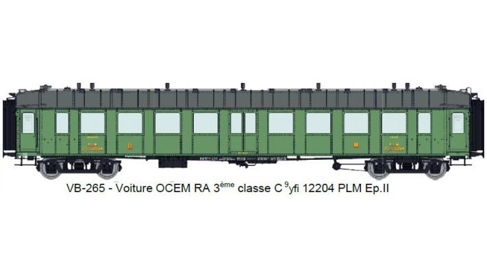 Voiture OCEM RA 3ème classe C 9yfi 12204 PLM Ep.II