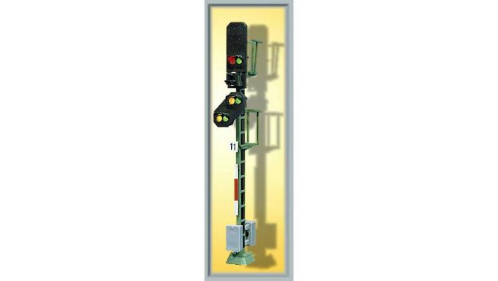 H0 Licht-Blocksignal mit Vorsignal
