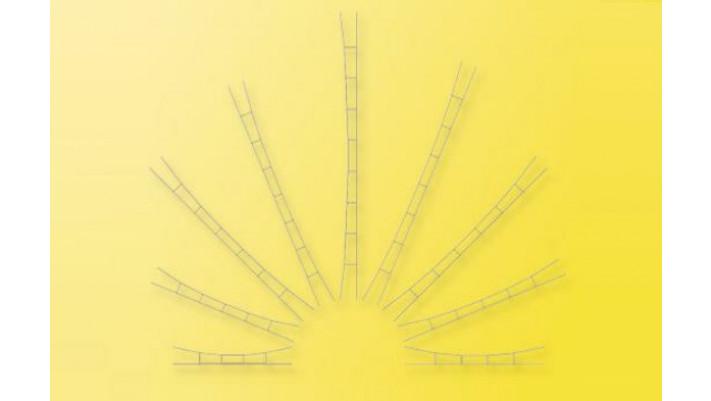 H0 Universal-Fahrdraht 360 - 400 mm / 3 Stück