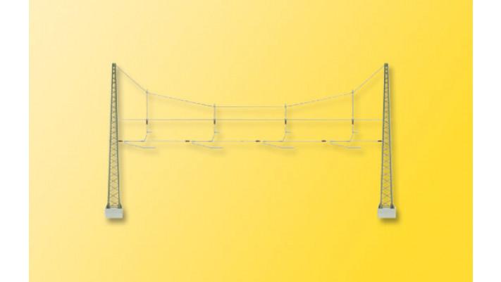 H0 Quertragwerk über vier Gleise