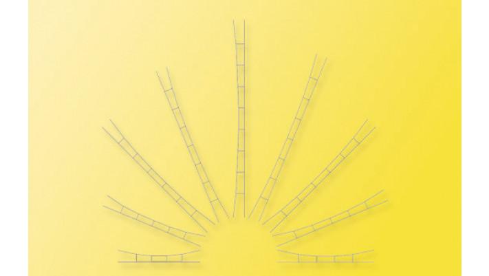 N Universal-Fahrdraht 196 - 218 mm, 5 Stück