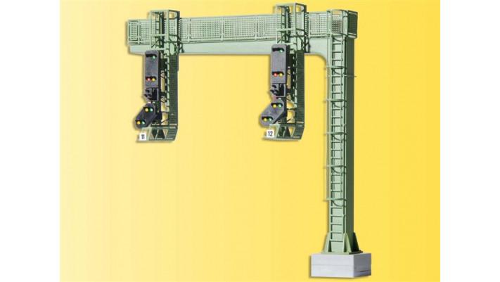 H0 Signalbrücke mit zwei Signalen