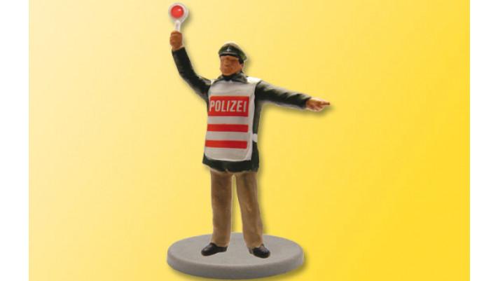 H0 Polizist, mit erhobener Leuchtkelle