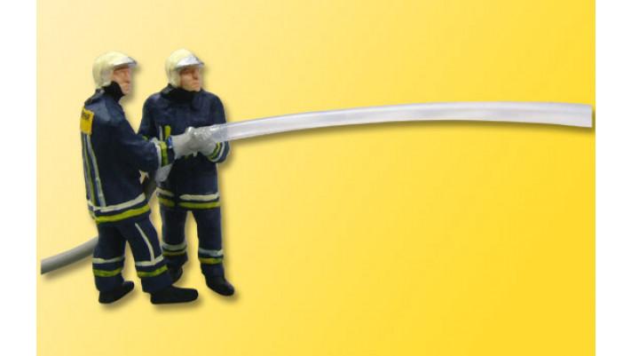 H0 Feuerwehrmänner beim Löschangriff