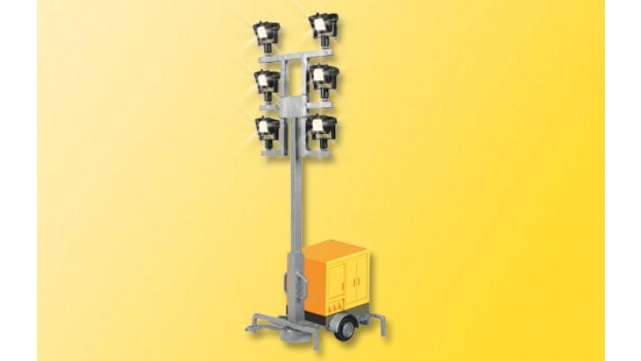 H0 Leuchtgiraffe auf Anhänger, mit LEDs