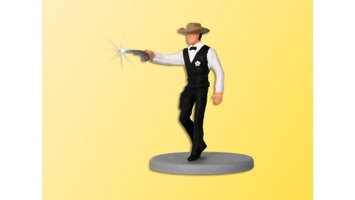 H0 Sheriff mit Revolver