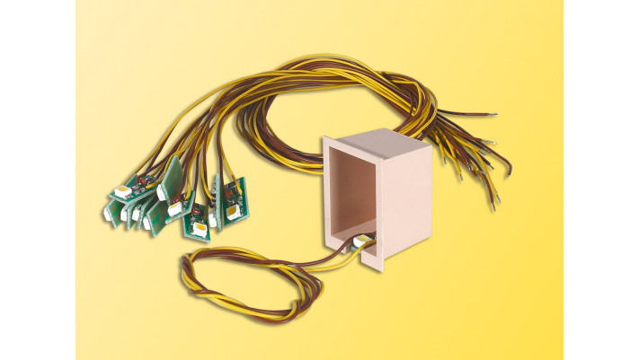 Hausbeleuchtung mit 1 LED, gelb (10