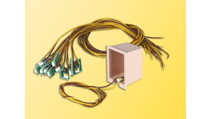 Hausbeleuchtung mit 1 LED, gelb (10 Stück)