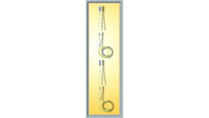 Glühlampe, klar, d 1,3 mm, 1,5 V, 2 Kabel