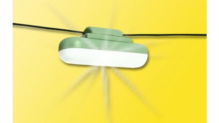 H0 Hängelampe mit Seilaufhängung, mit LED