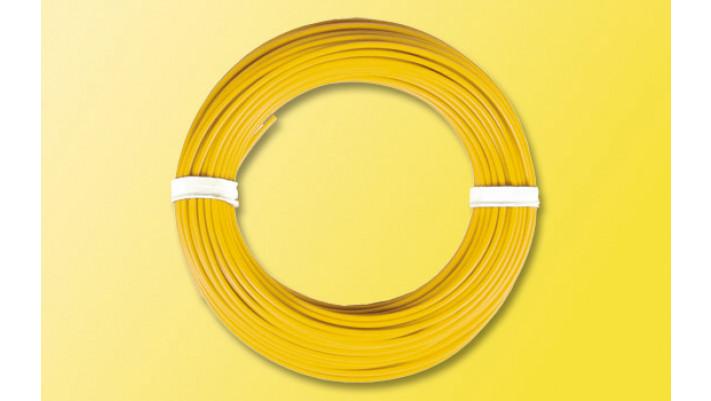 10 m Kabelring, 0,14 mm², gelb