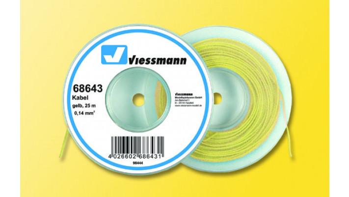 25 m Kabel auf Abspulrolle, 0,14 mm², gelb