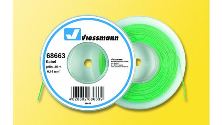 25 m Kabel auf Abspulrolle, 0,14 mm², grün