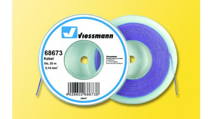 25 m Kabel auf Abspulrolle, 0,14 mm², 2 m, lila