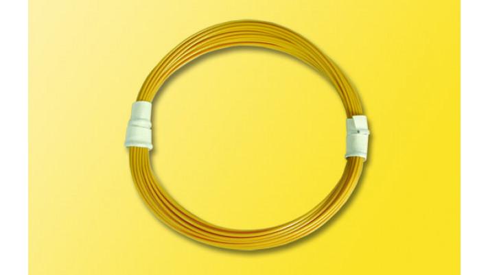 Extradünnes Spezialkabel 0,6 mm d, 5 m, gelb