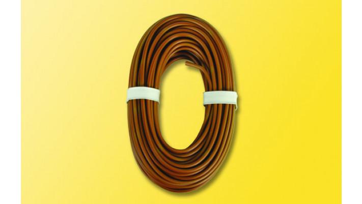 Hochstromkabel 0,75 mm², 10 m, braun