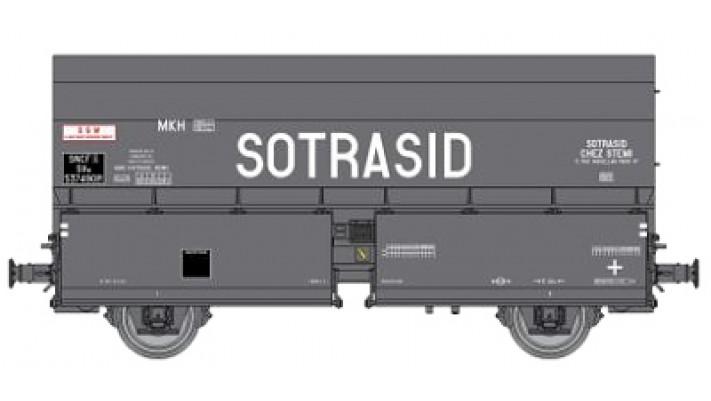 Wagon STEMI 56 2E Boîtes à Tampon, sans Plateforme, Ep.III 'SOTRASID'
