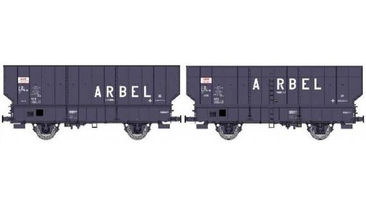 SET de 2 Wagons ARBEL Boîte à Tampon, Caisse pans coupés, et Boîte à T