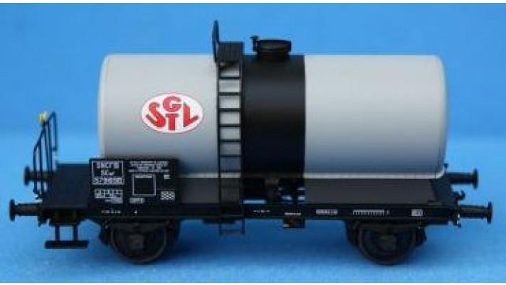 SET de 2 Wagons CITERNES soudées 'SGTL', boites d'essieux à coussinets