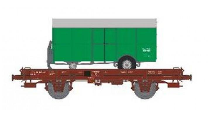 Wagon UFR Monoporteur Ep.IV  Remorque Verte