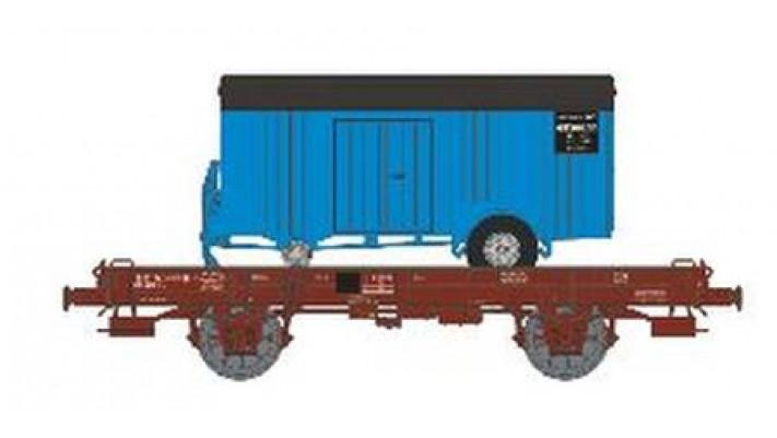 Wagon UFR Monoporteur Ep.IV  Remorque Bleue