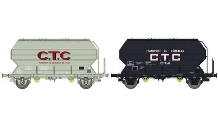 """SET de 2 Wagons Frangeco A, boîtes d'essieux à coussinets, freiné """"CTC"""