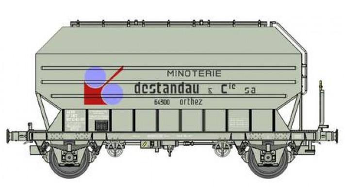 """Wagon Frangeco B, boîtes d'essieux à rouleaux, freiné """"DESTANDAU"""" Ep.I"""