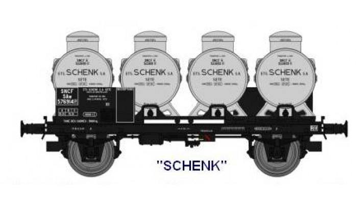 OCEM 29 porte citernes freiné boîte à Tampons roues pleines  4 cite