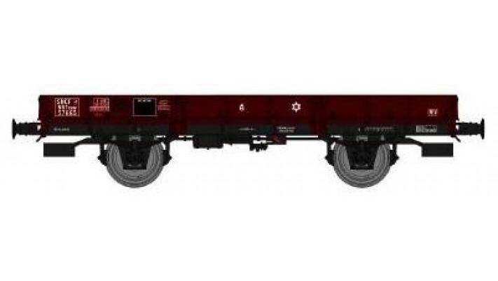 Wagon PLAT OCEM 29 Ep.III  VIDE, roues pleines