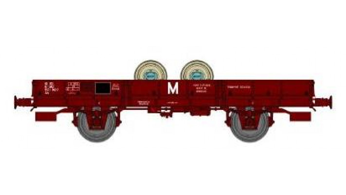 Wagon PLAT OCEM 29 Ep.IV  PORTE ESSIEUX – Boites SKF, roues pleines