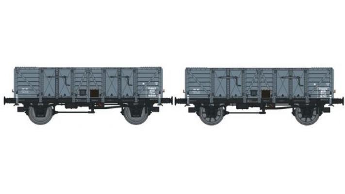 Set de 2 Wagons TOMBEREAU OCEM 29 Ep.II  MIDI  Type A Bois