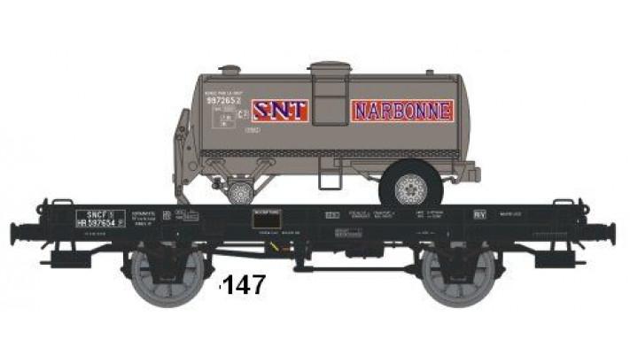 Wagon UFR MonoPorteur Ep.III Citerne Ronde 1 Dôme   NARBONNE SNT