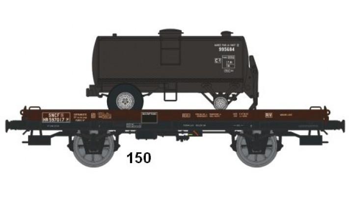 Wagon UFR MonoPorteur Ep.III Citerne Ronde 1 Dôme NOIRE UNIE