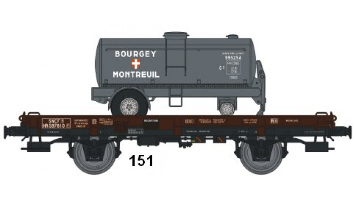 Wagon UFR MonoPorteur Ep.III Citerne Elliptique BOURGEYMONTREUIL