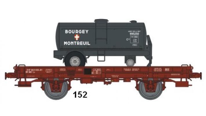 Wagon UFR MonoPorteur Ep.IV Citerne Elliptique BOURGEYMONTREUIL