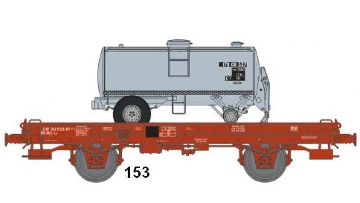 Wagon UFR Monoporteur Ep.IV Citerne Ronde 1 Dôme CECI Grise