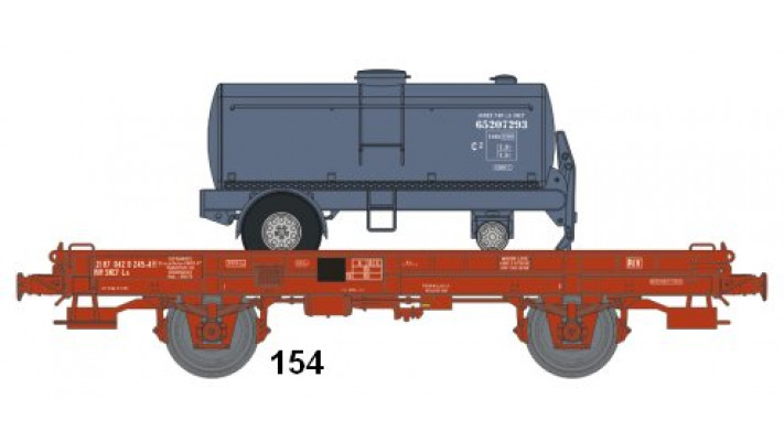 Wagon UFR MonoPorteur Ep.IV Citerne Elliptique BLEUE UNIE