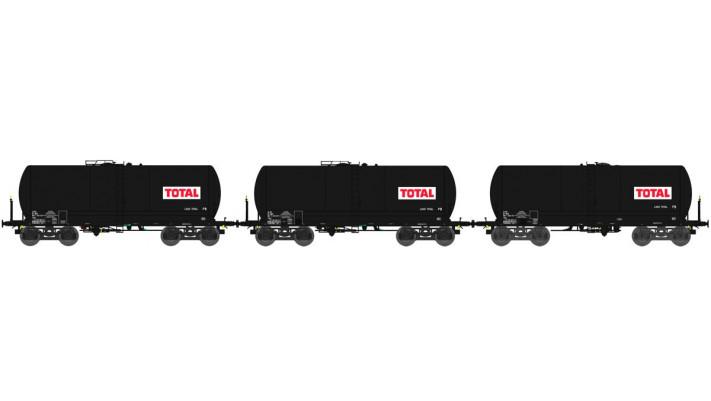 SET de 3 Wagons CITERNE ANF courtes Ep.IV TOTAL sur bogies Y 23M
