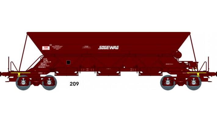 "Wagon TREMIE EX T1 Ep.IVV  N° 33 87 690 0 7612 ""SOGEWAG"""