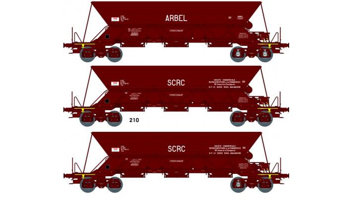 "SET de 3 Wagons TREMIE EX T1 Ep.IV  N° 21 87 067 8 5039 ""ARBEL"" / N° 2"