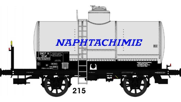 CITERNE OCEM 19 rivetée, boites U1, plateformeSerre-freins, 'NAPHTACHI