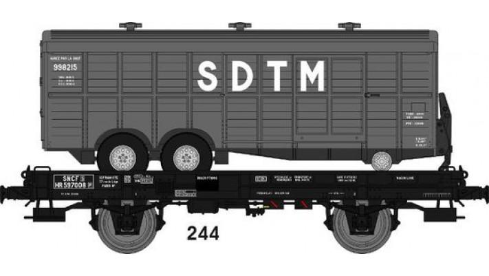 Wagon UFR MonoPorteur Ep.III Remorque double essieux   SDTM   Grise