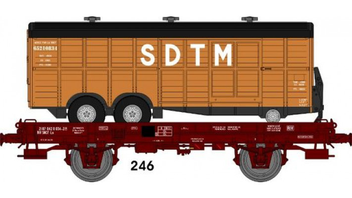 Wagon UFR MonoPorteur Ep.IV Remorque double essieux   SDTM   Marron