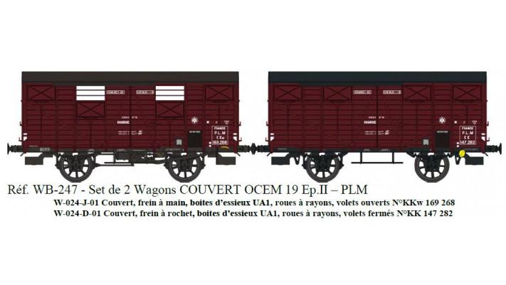 SET de 2 Couverts OCEM 19 Ep.II Réseau PLM - Freins Levier et Rochet R