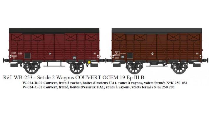 SET de 2 Couverts OCEM 19 Ep.III B  SNCF  Roues rayons, Volets fermés