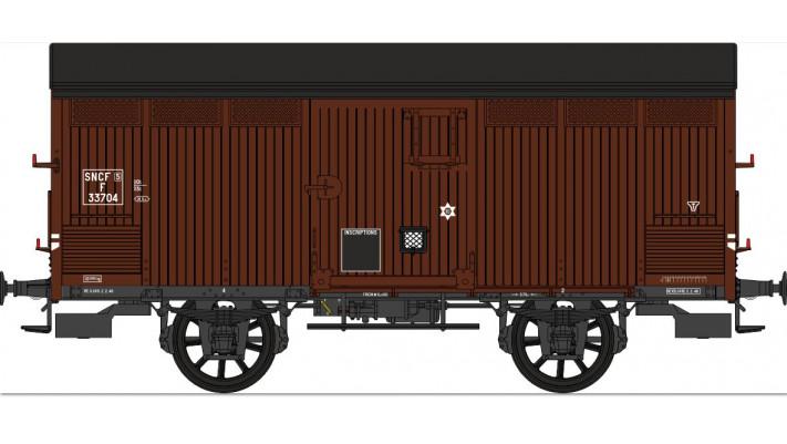 SET de 2 Primeurs SNCF Ep.III A Type I (1905) Roues à rayons  Châssis