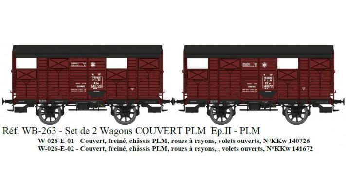 SET de 2 COUVERTS PLM Ep.II Réseau PLM Roues à rayons  Châssis PLM